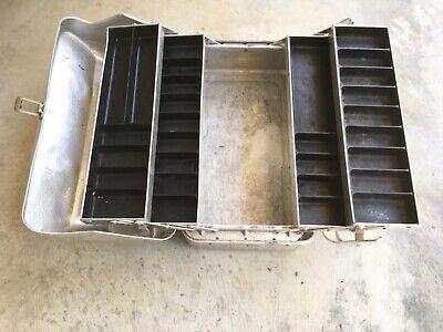 Vintage My Buddy 4 Tray Aluminum Tackle Box With Key Ebay