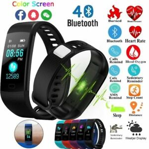damen herren y5 fitness smart watch blutdruck pulsmesser sport tracker armband ebay. Black Bedroom Furniture Sets. Home Design Ideas