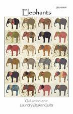 Elephants Animal Laundry Basket Quilt Applique Pattern