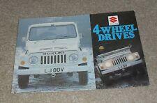 Suzuki 4 Wheel Drive Brochure 1979 - LJ80 & LJ80V