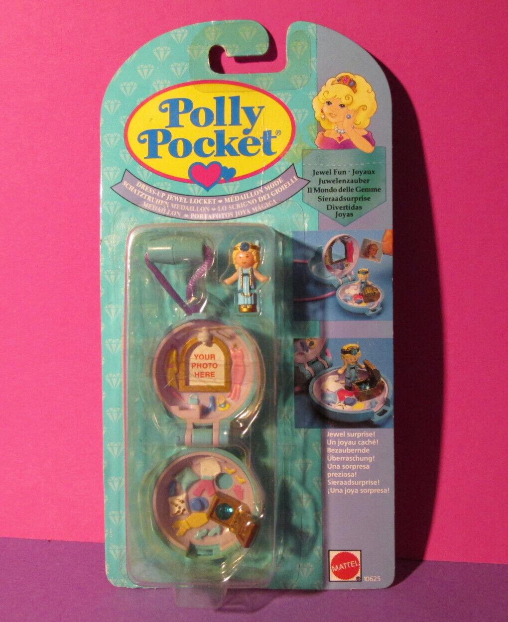 Polly Pocket Mini nuevo ♥ joya cadena ♥ dress up Jewel Locket ♥ OVP ♥ 1992 ♥ New ♥