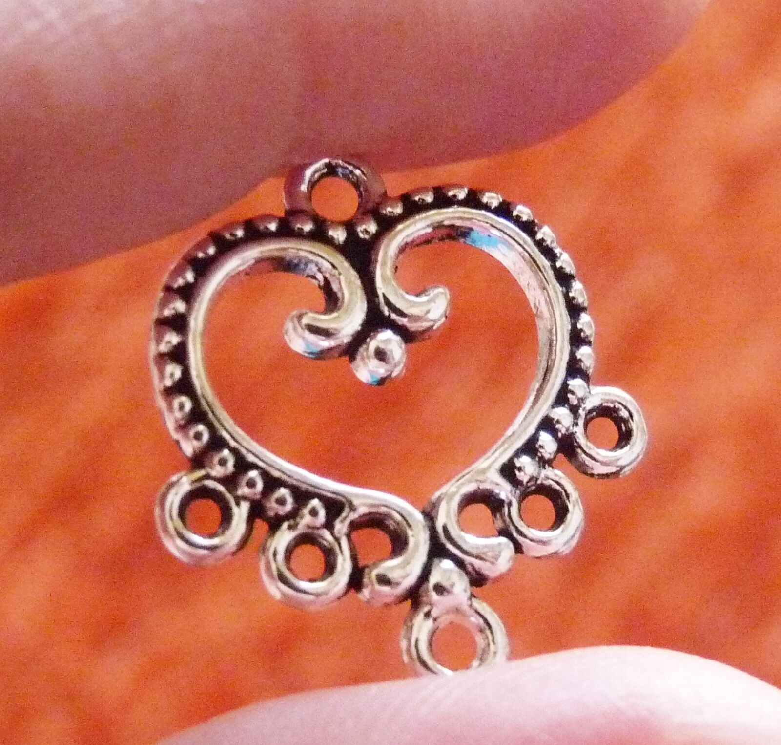 6Pcs Filigree Chandelier Earring Findings 5 Hole Pendant Necklace Connector