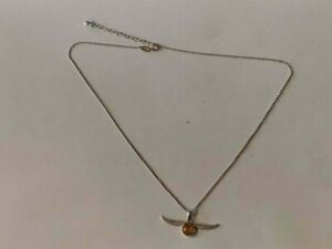 Details about WBEI SILVER 925 Necklace Harry Potter With Swarovski®  Crystals Golden Snitch