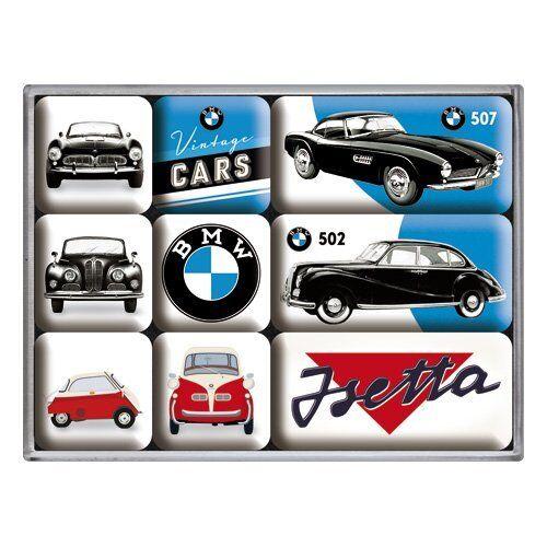 BMW Vintage Cars Auto Kühlschrank Magnet Set 9-teilig MAG65
