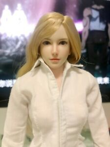 """1:6 Female Head Carving Sculpt Model Girl Figure Toy for 12/"""" Action Body Doll"""