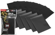 300 Black Matte Deck Guard Card Sleeve Protectors - Tournament Quality Sleeves