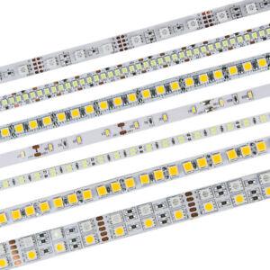 5M-LED-Flexible-Strip-Light-3528-2835-3014-5050-5630-7020-RGB-Warm-White-DC12V