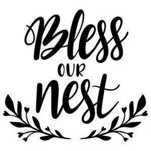 Bless Our Mess Vinyl Wall Graphic Decal Sticker