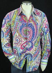 "Robert Graham ""Sir Roland"" Rare Paisley Print French Cuffs XL | eBay"