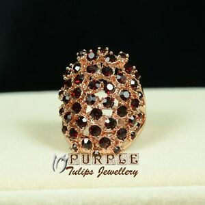 18CT-Rose-Gold-Plated-Fashion-Ruby-Ring-Made-With-SWAROVSKI-Crystals