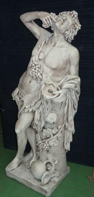 BACCHUS,pierre reconstituée,grande statue de 140 cm de haut
