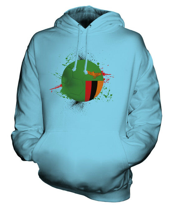 ZAMBIA FOOTBALL UNISEX HOODIE TOP GIFT WORLD CUP SPORT