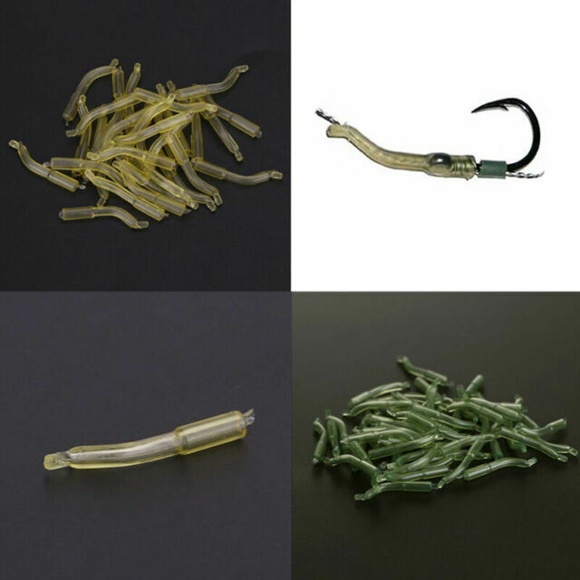 30pcs Outdoor Carp Fishing Safety Lead Clips &Pins Tubes Tail 23mm Rubber I F9U7
