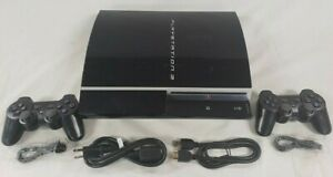 Sony Playstation 3 250GB PS3 Video Game System Fat Console CECHH01 2 CONTROLLER