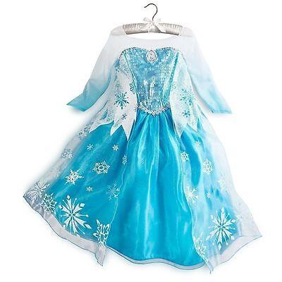 Mädchen Kinder Eiskönigin Frozen  Elsa  Tüllkleid Prinzessin Cosplay Kostüm