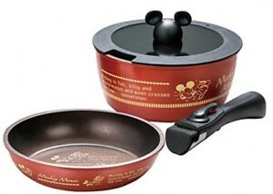 Disney-Mickey-Mouse-Reattachable-Handle-IH-Cooking-Ware-Set-Japan-with-Tracking