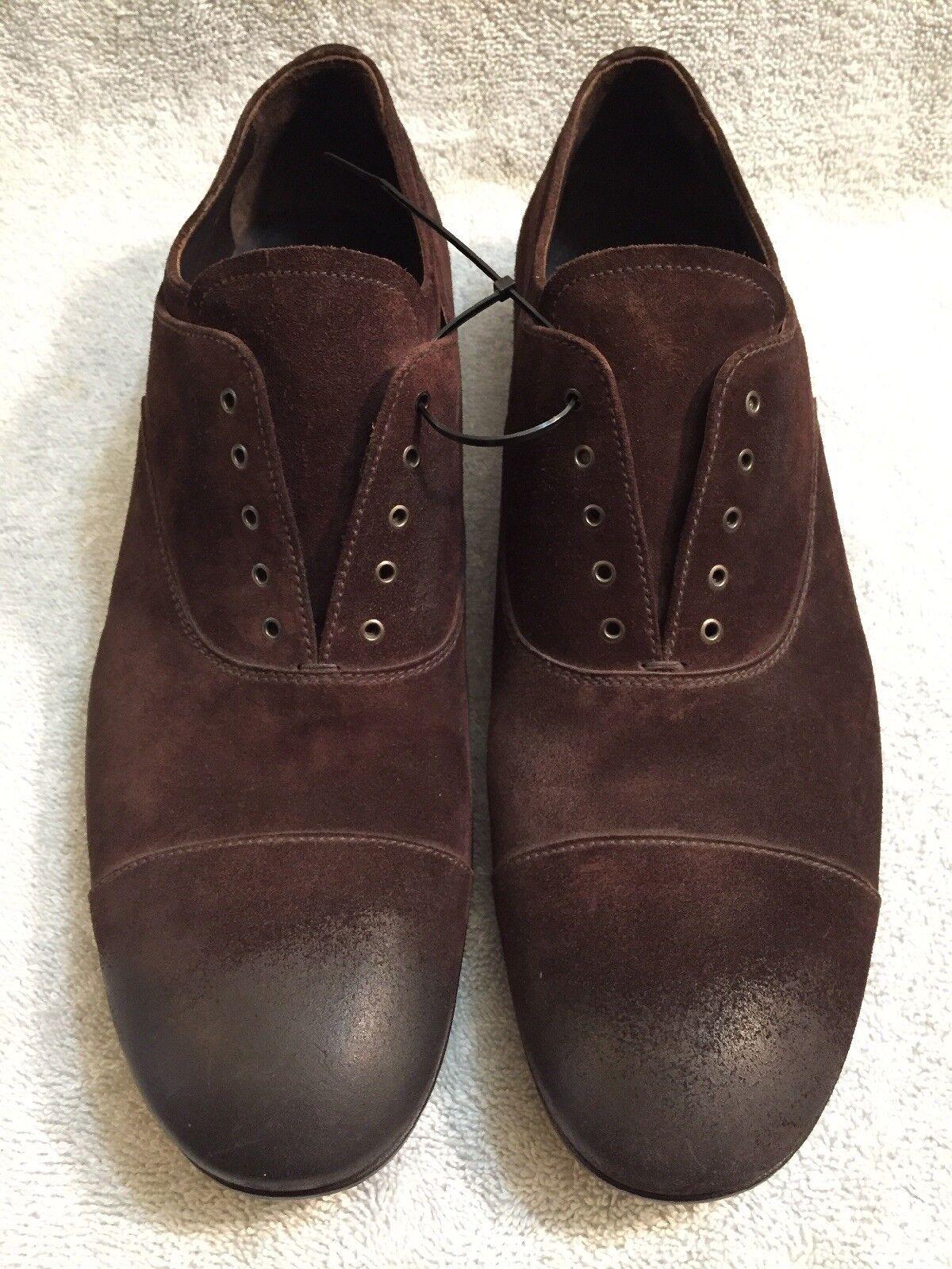 PRADA Authentic Authentic PRADA Luxury marrone Suede Uomo's Scarpe Taglia 10 -2 E 2720 092341