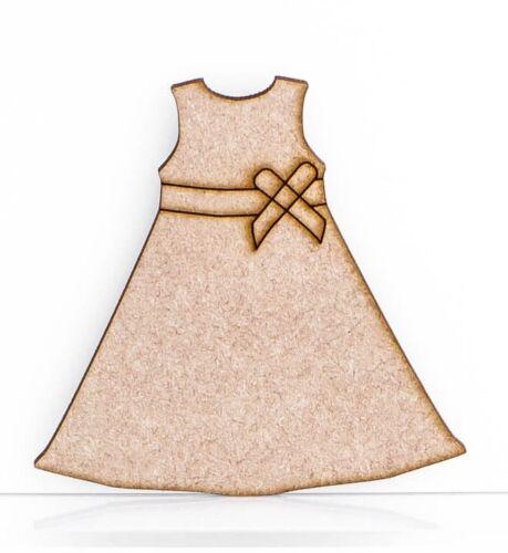 Girls Dress Craft Shape Embellishment 3mm Thick MDF Wood Design Project