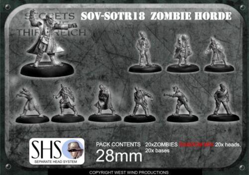 Miniatures Undead 20 Secrets of the Third Reich SOV-SOTR18 Soviet Zombie Horde
