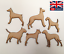 6 X Dogs 3mm MDF Laser Cut Wooden Craft Blank Wholesale Dog