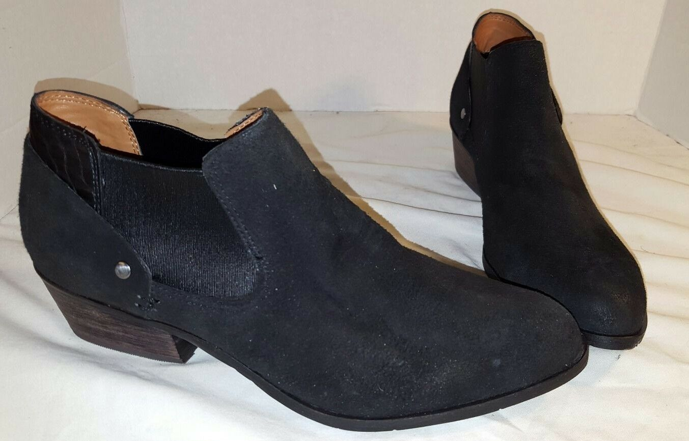 NEW DV BY DOLCE VITA BLACK CAPRICE LEATHER ANKLE BOOTS BOOTIES US SIZE 9