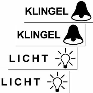 2 sets licht klingen aufkleber sticker briefkasten klingel. Black Bedroom Furniture Sets. Home Design Ideas