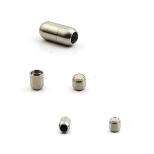 Véritable Acier Inoxydable Puce Forme Fermoir Magnétique Interne 6 mm pour Cuir