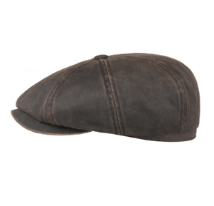 Stetson Hatteras Cotton Bakerboy Cap in Brown