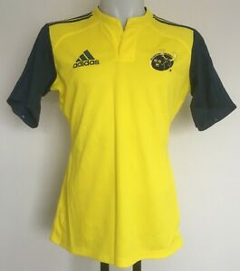 25fbe287c MUNSTER RUGBY S/S YELLOW/NAVY JERSEY BY ADIDAS SIZE MEN'S 44 INCH ...