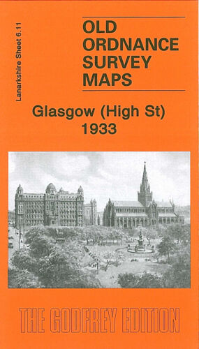 OLD ORDNANCE SURVEY MAP GLASGOW HIGH STREET 1933 BUCHANAN STREET DENNISTOUN