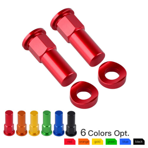 Tyre Rim Lock Nut Spacer Cap Kit For CR YZ KX RM CRF YZF KXF RMZ 85 125 250 450