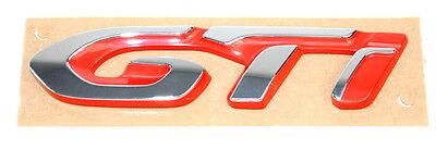 Abile Nuovo Peugeot 308 Posteriore Portellone Distintivo Stivale Gti Cromato & Rosso Nuovo Originale 98131455vd-