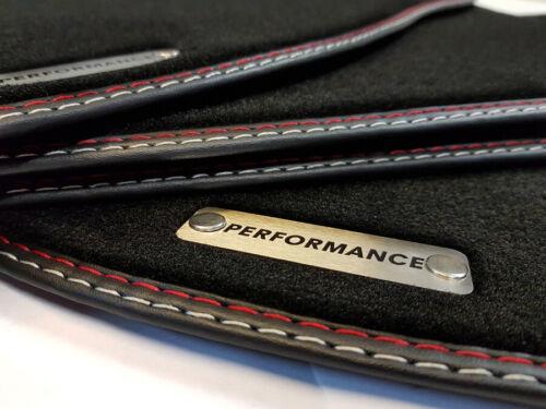Fußmatten für Porsche Cayenne 955 beste Qualität Velours mit Logo Performance