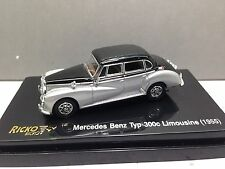 HO 1/87 Ricko # 38877 - 1955 Mercedes-Benz TYP 300C Limousine Silver/Black