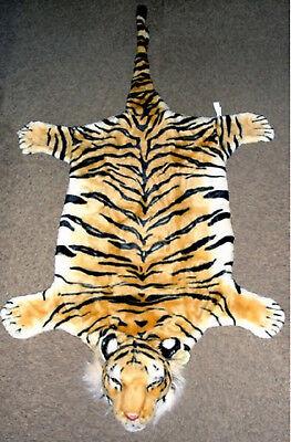 Tiger Pelliccia Tappeto Scendiletto Tigre Decorazione Camino Peluche Pelo Peluche Marrone-mostra Il Titolo Originale Gradevole Al Gusto