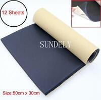 12 Sheets Self Adhesive Closed Cell Foam 10mm Car Sound Proofing Insulation