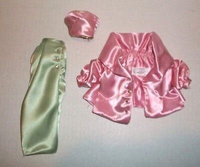 NEW FROM BOX BARBIE DOLL DESIGNER MINT GREEN /& PINK 3 PC DRESS CLOTHES MATTEL
