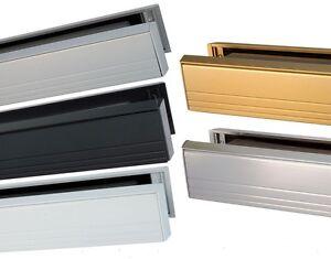 Image is loading 12-034-Slimline-Letterbox-For-Upvc-Aluminium-Doors-  sc 1 st  eBay & 12