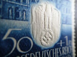 Germany Nazi 1943 Stamp MNH Embossed Swastika Eagle Generalgouvernement WWII Thi