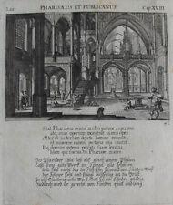 1679 Bibel Biblia Pharisäer und Zöllner Kupferstich Küsel