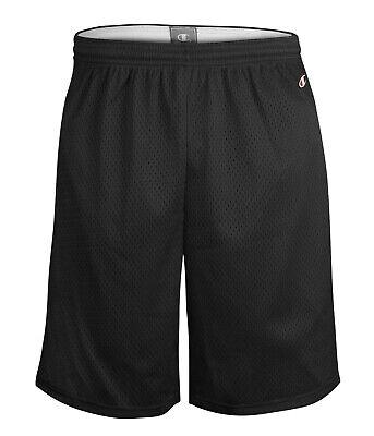 "CHAMPION Basketball Gym Athletic Adult Long Poly-Mesh 9/"" Inseam Mens Shorts"