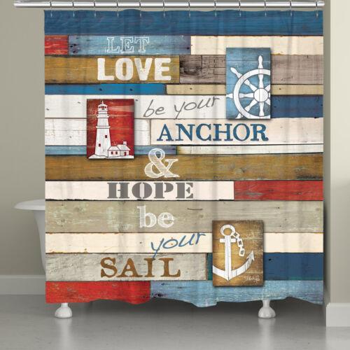 Longshore Tides Burnham Nautical Anchor Inspiration Single Shower Curtain