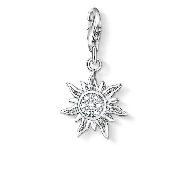 Genuine Thomas Sabo Sterling Silver Charm Club CZ Sun Charm CC1040