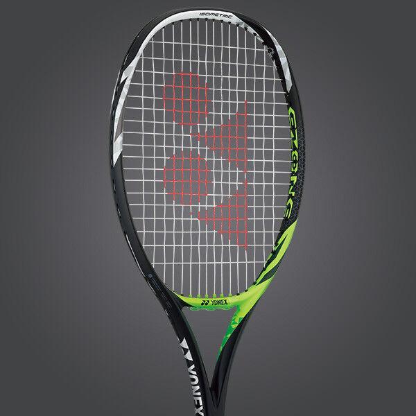 Yonex Tennis Racquet Ezone Feel, G3, STRUNG, Lime Grün