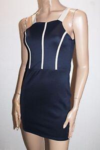 332e770bb8c1f Image is loading BOOHOO-Brand-Navy-Petra-Contrast-Detail-Bodycon-Dress-