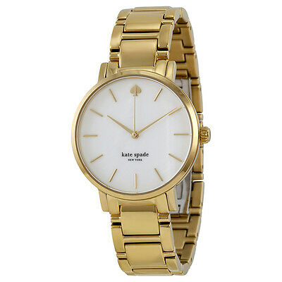 Kate Spade Gramercy Mother of Pearl Dial Gold-plated Ladies Watch 1YRU0002