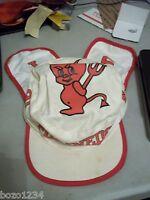 1991 PLAINEDGE HIGH SCHOOL RED DEVILS MASCOT BASEBALL CAP HAT N. MASSAPEQUA NY