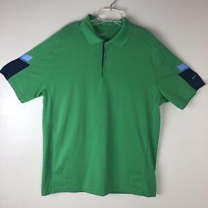 95ad4d180 Nike Tour Performance Dri Fit Nike Golf Polo Shirt Size L Green   eBay