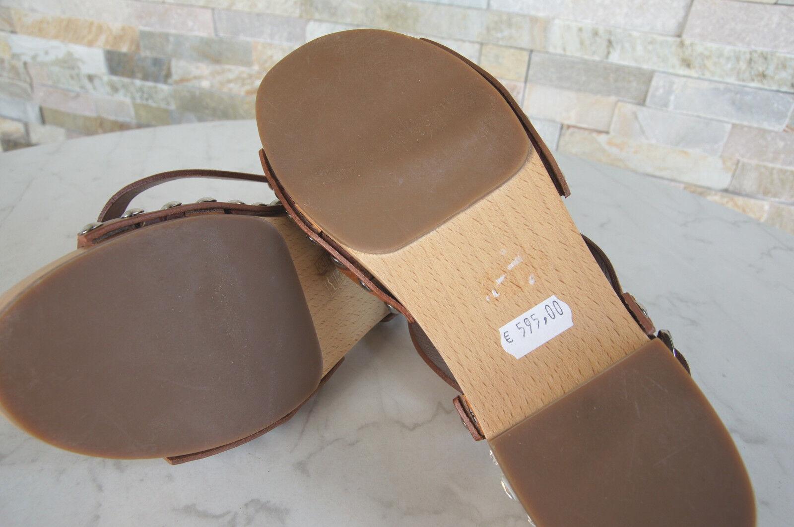 MIU MIU by Schuhe PRADA Gr 38 Sandalen Sandaletten Holz Schuhe by braun neu 682678