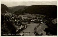 Hirsau Schwarzwald alte Ansichtskarte 1955 gelaufen Gesamtansicht Panorama Wald